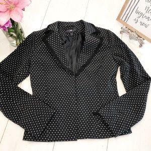 H&M BLACK with white polka dot blazer
